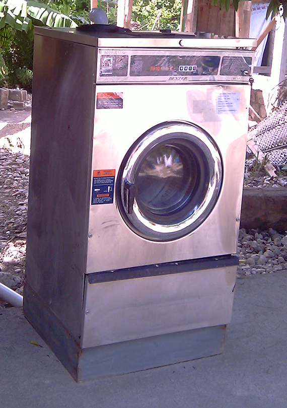 First washing machine, donated by one of Gardy's American sisters Jeannette